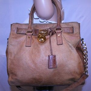 MICHAEL KORS OSTRICH EMBOSSED LEATHER
